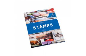 STAMP COLLECTION BOOK A5 BLACK PAGES ''STAMPS''